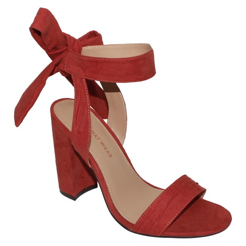d85699ccc691 Women s Michaela Block Heel Ankle Strap Sandals - Who What Wear™ Rose 6.5    Target