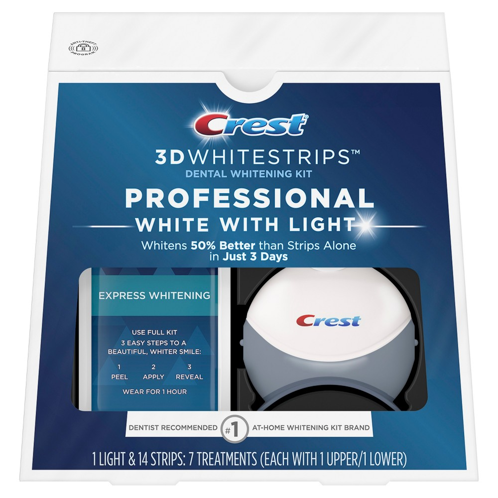 Crest 3D Whitestrips Professional White with Light Kit - 7ct