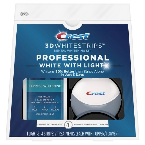 Crest 3D Whitestrips Professional White with Light Kit - 7ct - image 1 of 5
