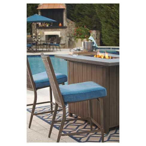 Rectangle Fire Table Beige Outdoor By Ashley Target