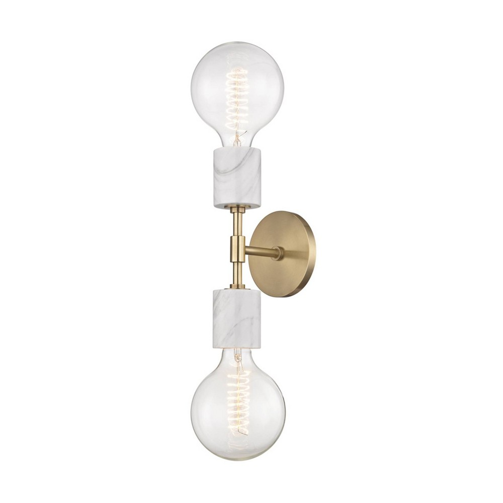 Asime 2-Light Wall Sconce Aged Brass - Mitzi by Hudson Valley Coupons