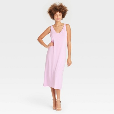Women's Slim Fit Sleeveless Knit Dress - A New Day™