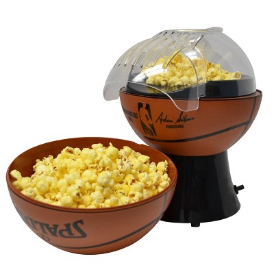 Uncanny Brands NBA/Spalding Hot Air Popcorn Maker