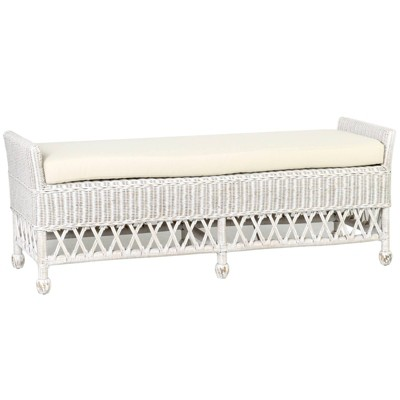 Longley Double Bench White Aged - East at Main