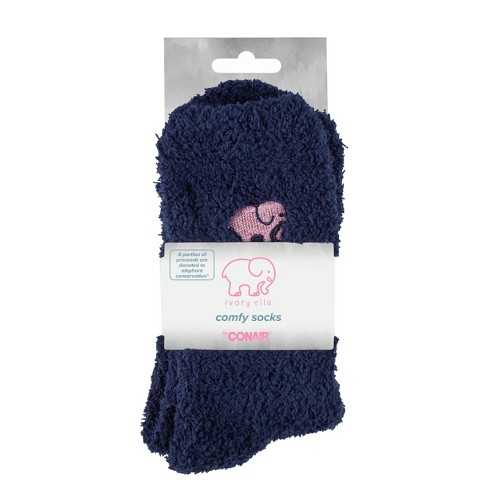 Ivory Ella Fuzzy Socks - Blue - image 1 of 4