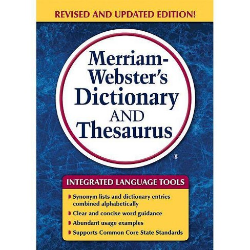 Merriam-Webster's Dictionary and Thesaurus - (Paperback) - image 1 of 1