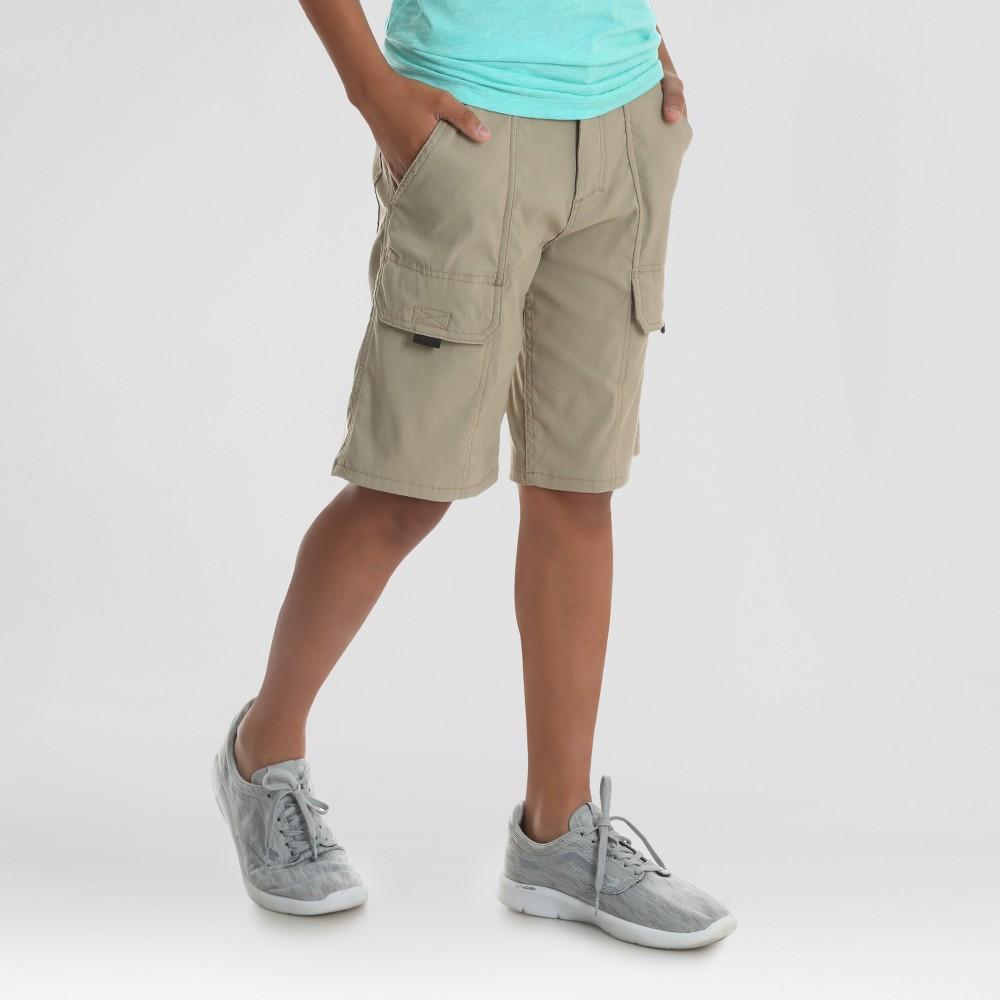 Wrangler Boys' Explorer Cargo Shorts - Tan 8 Husky, Brown