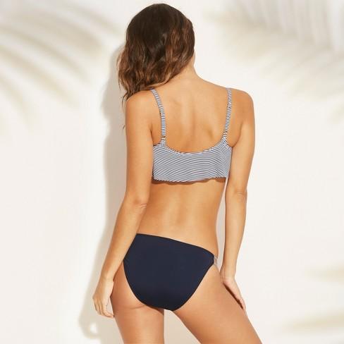 0e0e73fa4d Women s Flounce Bralette Bikini Top - Xhilaration™ Navy Stripe   Target