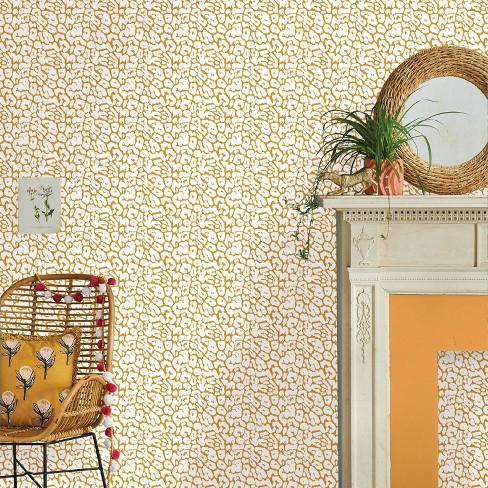 Animal Print Peel Stick Wallpaper Gold Opalhouse Target
