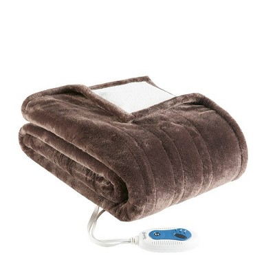Plush to Berber Electric Snuggle Wrap - Beautyrest