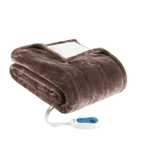 Plush to Berber Electric Snuggle Wrap - Beautyrest - image 1 of 3