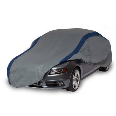 """Duck Covers 19"""" Weather Defender Sedan Car Automotive Exterior Cover Gray/Blue"""