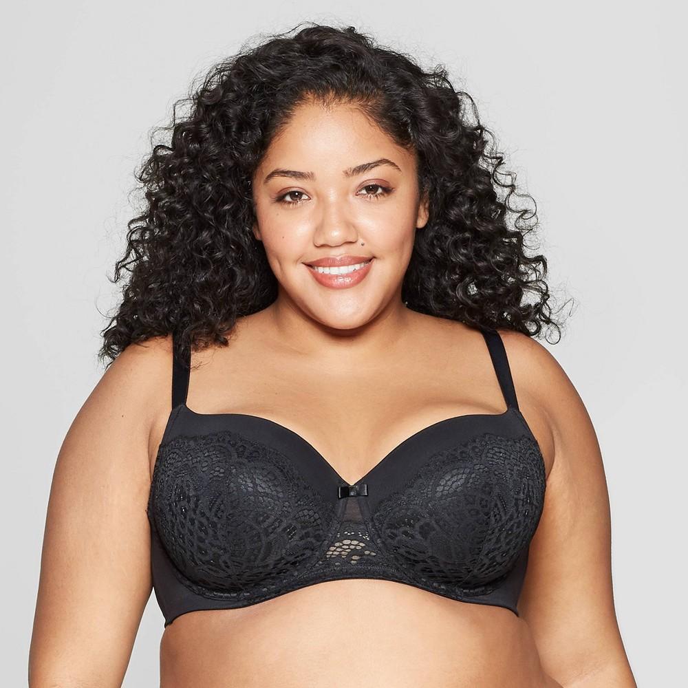 Women S Plus Size Lightly Lined Balconette Bra Auden 8482 Black 42dd