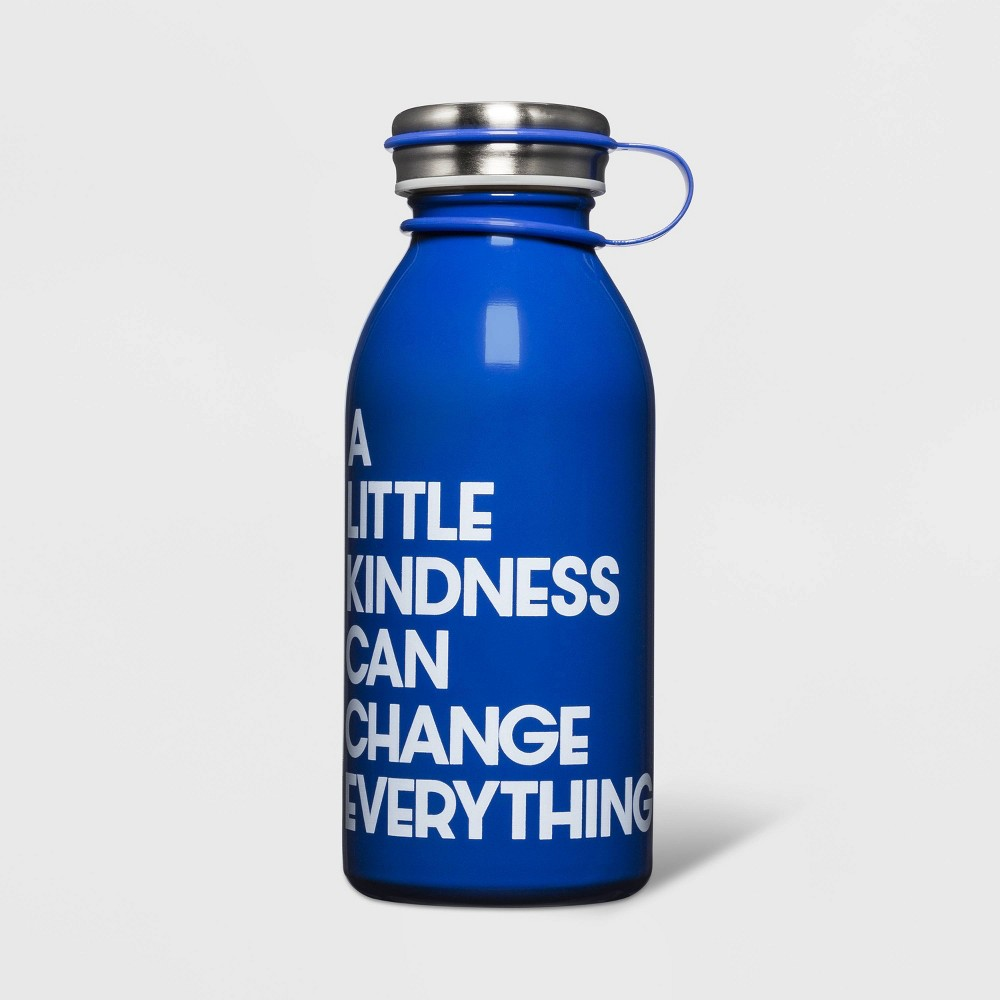 Image of 12oz Stainless Steel A Little Kindness Can Change Everything Water Bottle Blue - Cat & Jack