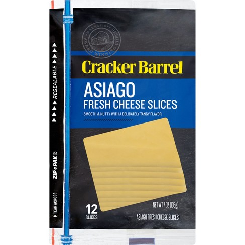 Cracker Barrel Asiago Fresh Cheese Slices - 12ct - image 1 of 2