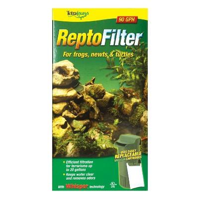TetraFauna ReptoFilter 20 Gallons, Terrarium Filtration, Keeps Water Clear