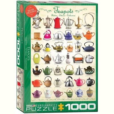 Eurographics Inc. Teapots 1000 Piece Jigsaw Puzzle