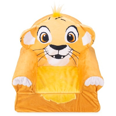 Marshmallow Furniture Comfy Foam Toddler Chair Kid's Furniture for Ages 2 Years Old and Up, Disney's The Lion King