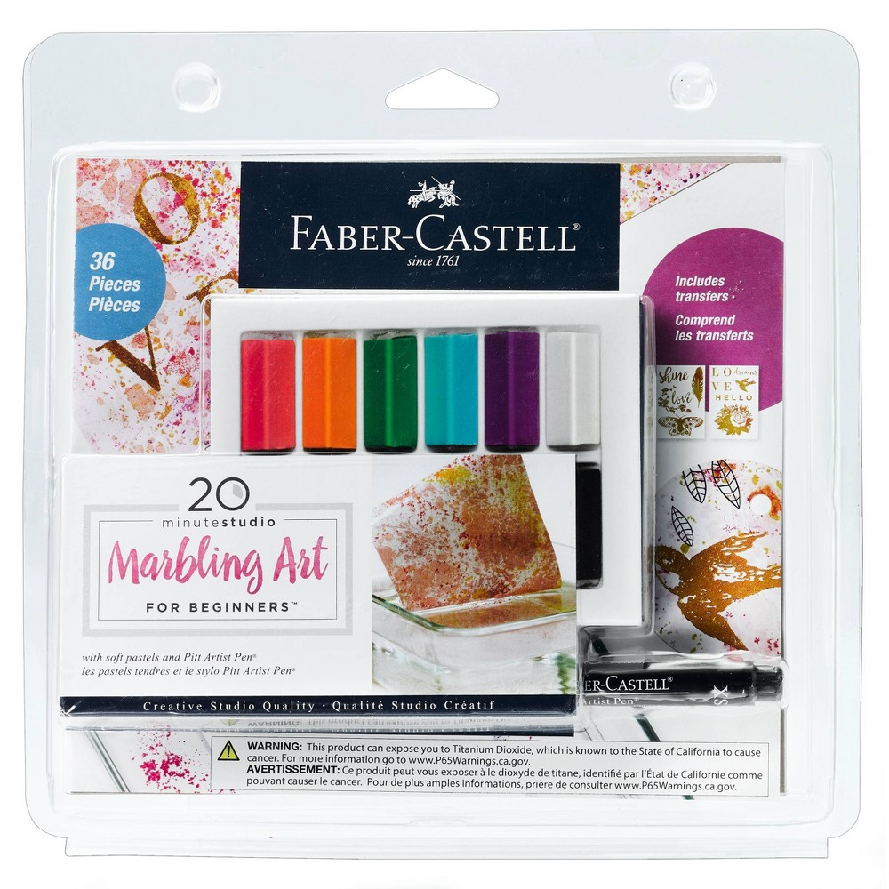 Image of 36pc 20 Minute Studio Marbling Art for Beginners - Faber-Castell