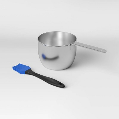 Stainless Steel Saucepan with Basting Brush - Room Essentials™