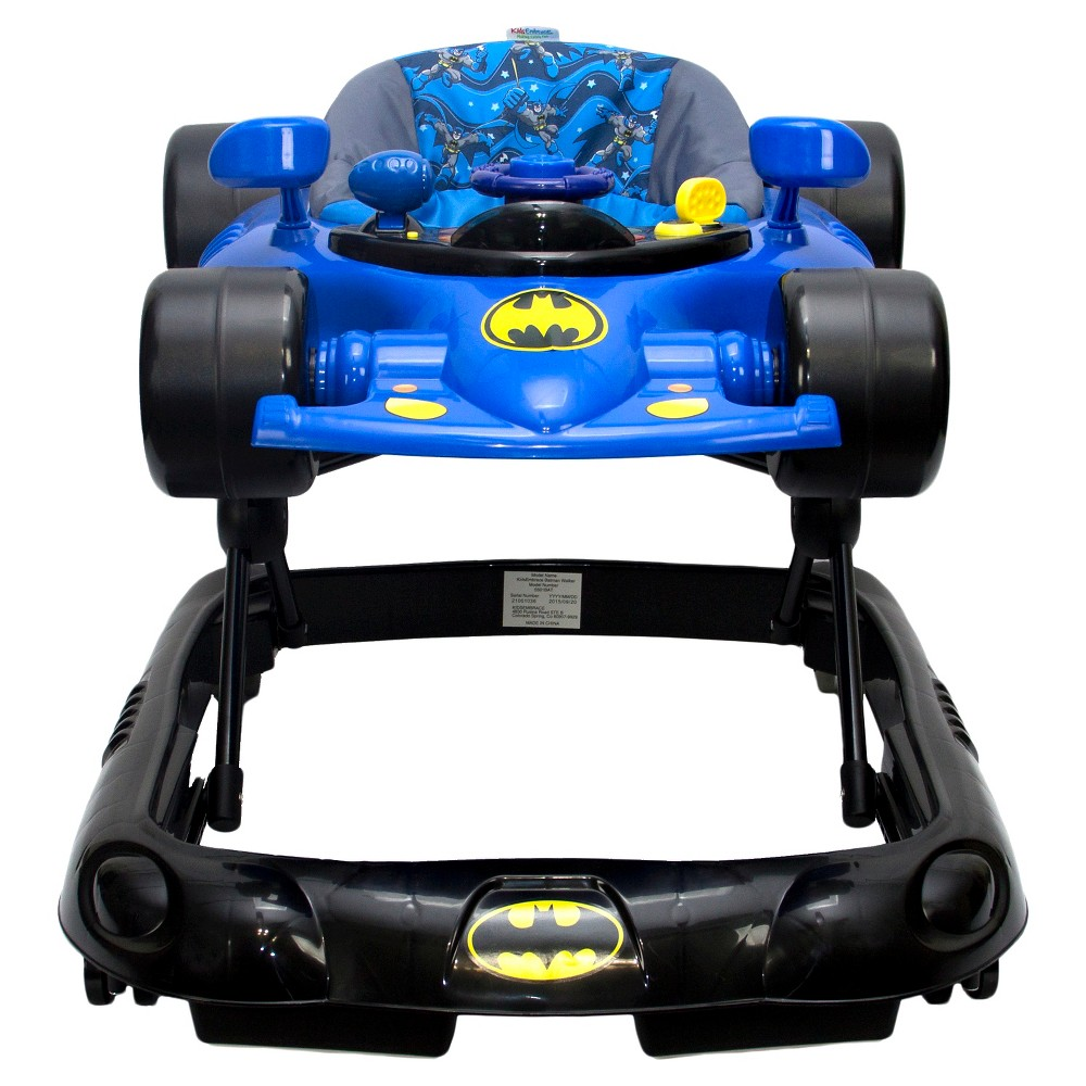 Image of KidsEmbrace DC Comics Baby Batman Walker, Yellow Black Blue