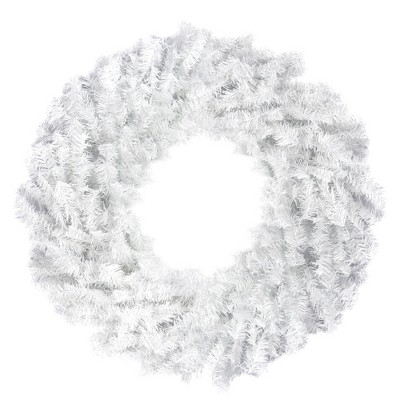 """Northlight 30"""" Unlit White Canadian Pine Artificial Christmas Wreath"""