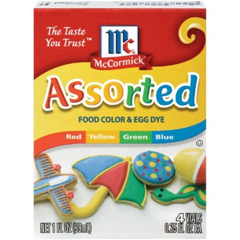 McCormick 4ct Assorted Food Color and Egg Dye - 1oz - image 1 of 4