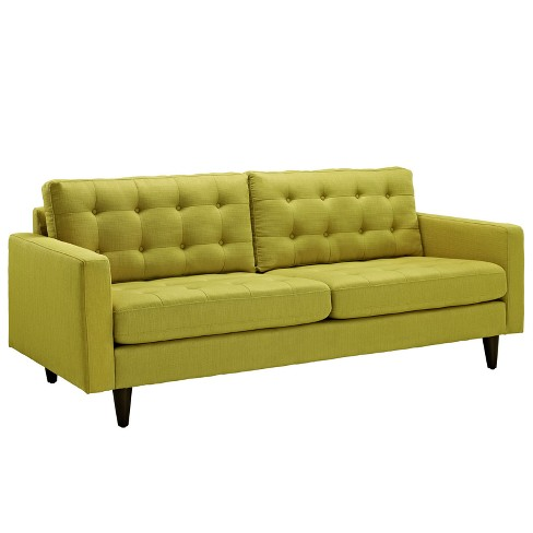 Empress Upholstered Sofa Wheatgrass - Modway - image 1 of 4