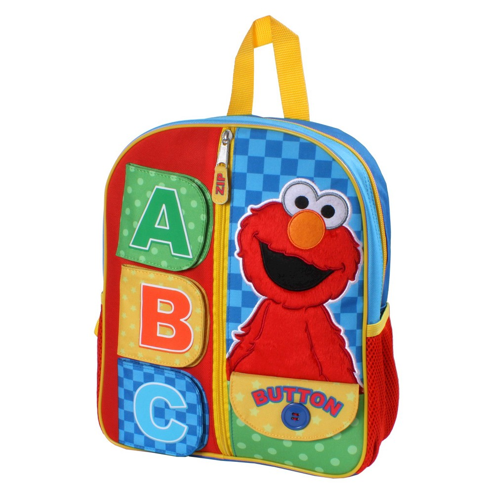 "Image of ""Sesame Street 12"""" Elmo Kids' Backpack- Sings The ABC's, Boy's, Size: Small, MultiColored"""