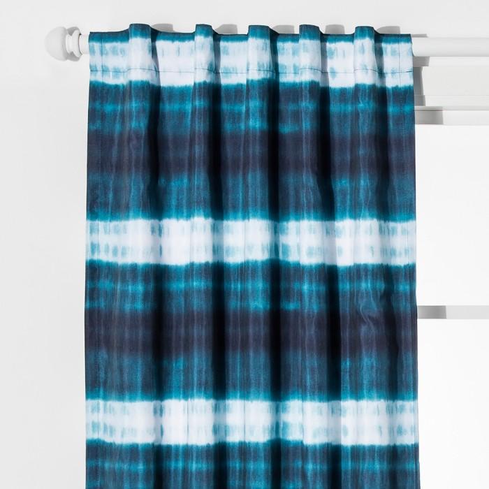 Dip Dye Stripes Blackout Curtain - Pillowfort™ - image 1 of 5