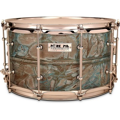Pork Pie Patina Brass snare drum