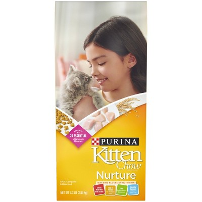 Purina Kitten Chow Nurture With Chicken Complete & Balanced Dry Cat Food - 6.3lbs