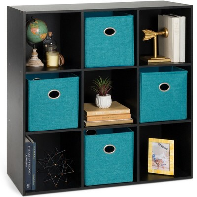 Best Choice Products 9-Cube Bookshelf, Display Storage System, Compartment Organizer w/ 3 Removable Back Panels - Black