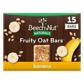 Beech-Nut Toddler Snack Banana Fruity Oat Bars - 15ct