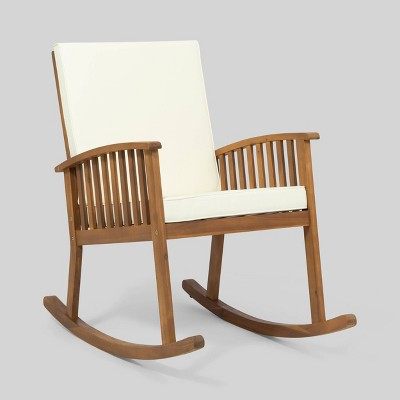 Casa Acacia Wood Rocking Chair - Christopher Knight Home
