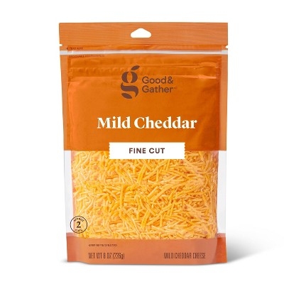 Finely Shredded Mild Cheddar Cheese - 8oz - Good & Gather™