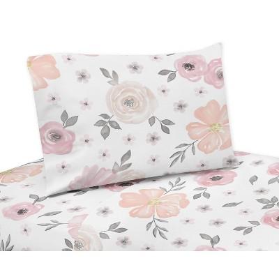 Watercolor Floral Queen Sheet Set - Sweet Jojo Designs