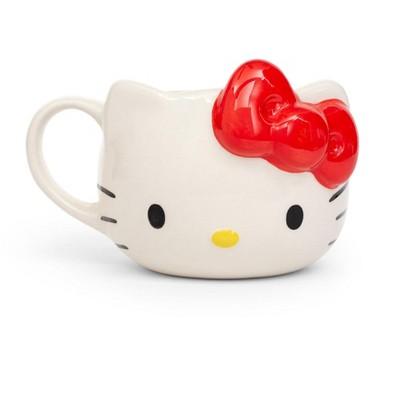 Silver Buffalo Hello Kitty Ceramic 3D Molded Mug | Holds 22 Ounces
