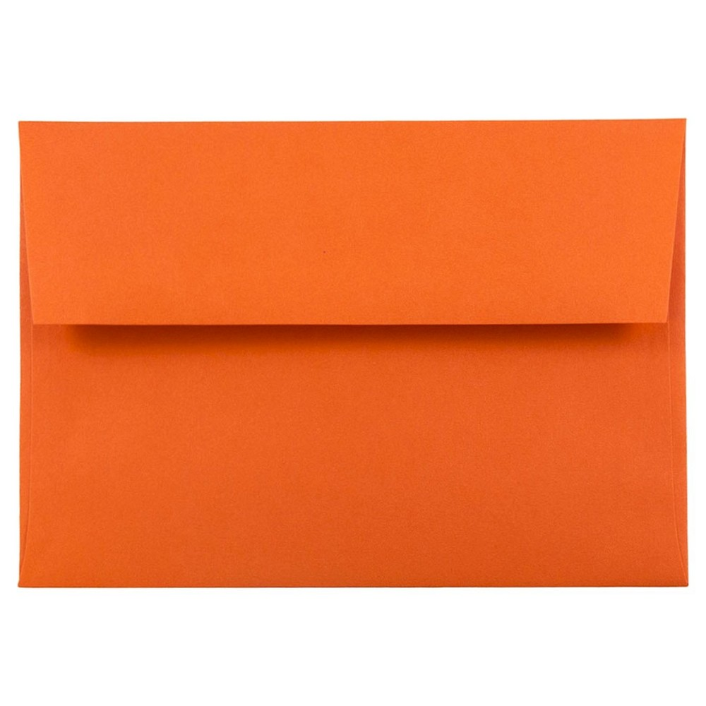Jam Paper Brite Hue A6 Envelopes 4 3 4 X 6 1 2 50 Per Pack Orange