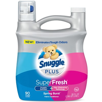 Snuggle Plus Super Fresh Liquid Fabric Softener, Spring Burst, 95 fl oz , 90 Loads