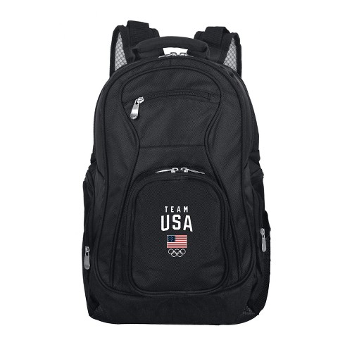 United States Olympic Team Black Laptop Backpack