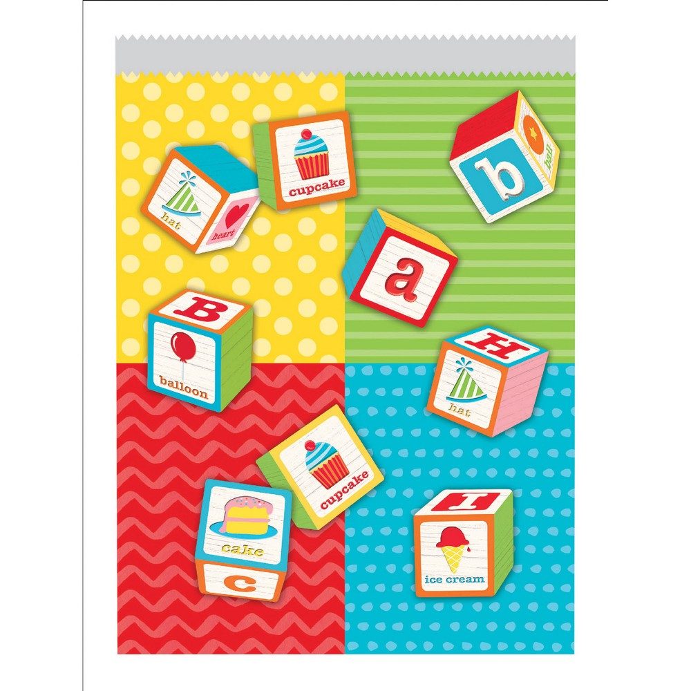 Image of 10ct ABC Blocks Birthday Treat Bags