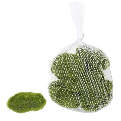Vickerman Artificial Moss Covered Rocks, there are 36 Rocks per Bag.