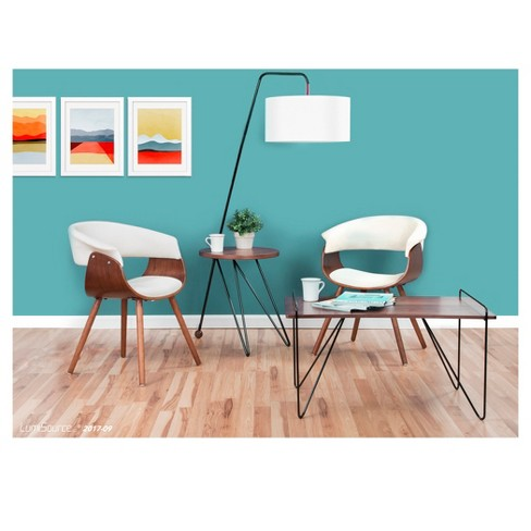 Tremendous Vintage Mod Dining Chair Wood Beige Lumisource Dailytribune Chair Design For Home Dailytribuneorg