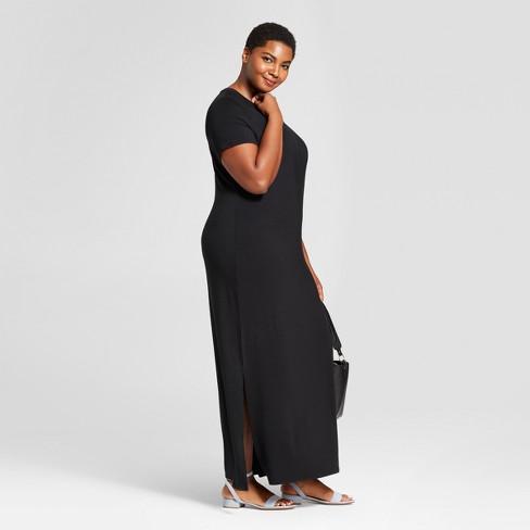 d386b46ac4bab Women's Plus Size T-Shirt Maxi Dress - Ava & Viv™ Black. Shop all Ava & Viv