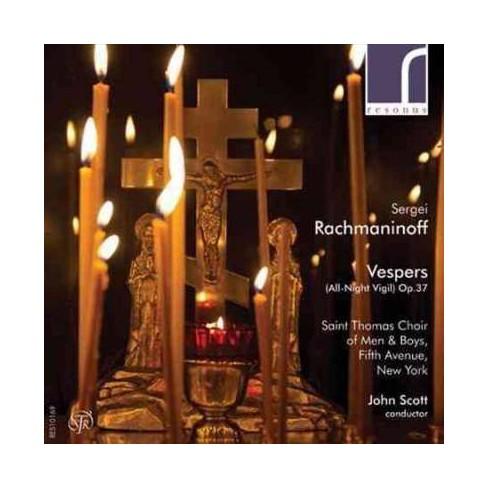 John Scott - Rachmaninov: Vespers (All-Night Vigil, Op. 37) (CD) - image 1 of 1