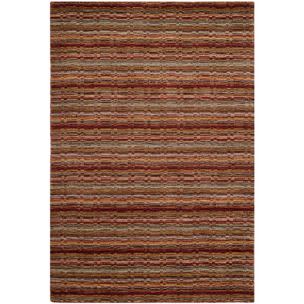 4'X6' Stripe Loomed Area Rug - Safavieh, Multicolored