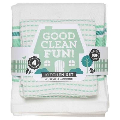White Kitchen Towel (13 x13 )- Now Designs