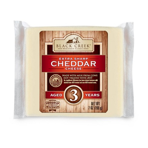 Black Creek Extra Sharp White Cheddar Cheese Aged 3 Years - 7oz - image 1 of 4