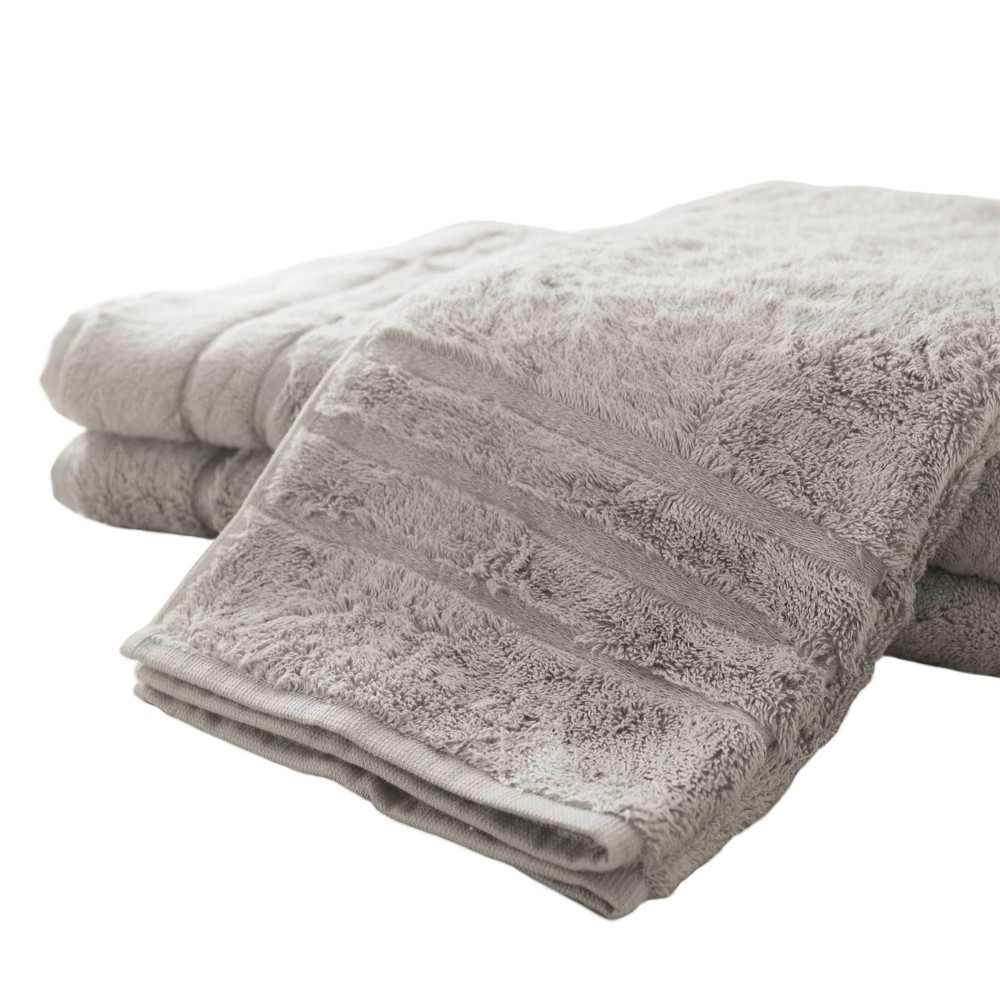 Image of 3pc Rayon from Bamboo Hand Towel Set Gray - Cariloha